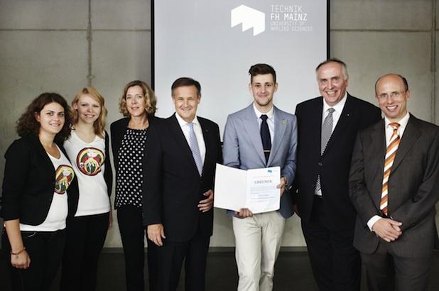 Photo of Preis des Hochschulrats der Fachhochschule Mainz für Alexander Küpper