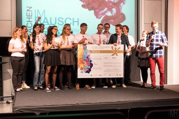 Studierende von RWTH und FH Aachen holten bei einem anspruchsvollen Marke- ting-Wettbewerb den ersten Platz. Foto: GWA