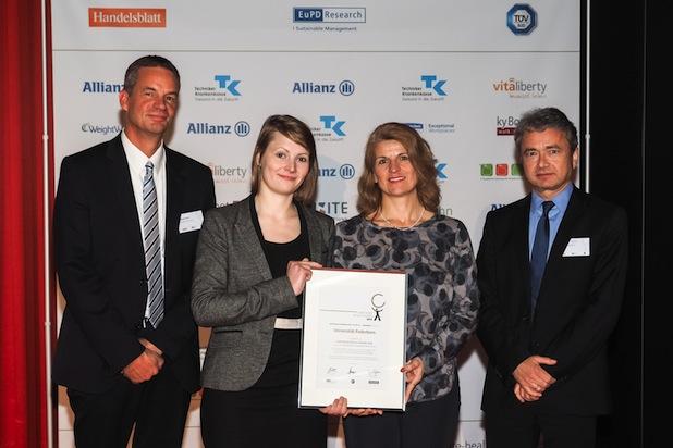 Photo of Universität Paderborn erhält den Sonderpreis im bundesweiten Wettbewerb Corporate Health Award 2014