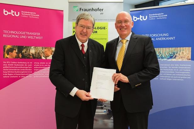 Photo of BTU Cottbus–Senftenberg und Fraunhofer IFF arbeiten jetzt noch enger zusammen