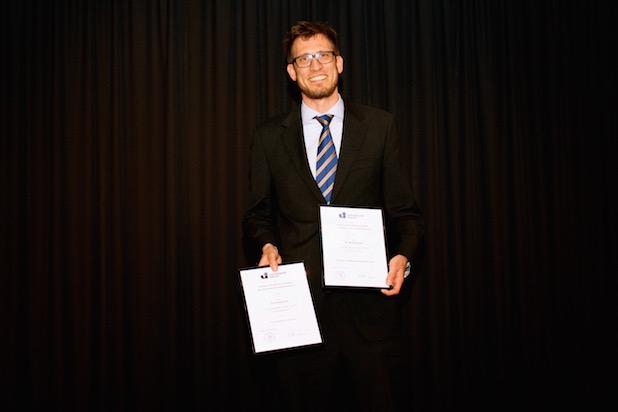 Foto: Universität Siegen/Dr. Dominik Kreß gewann die Preise für die beste Lehre und die innovativste Lehre.
