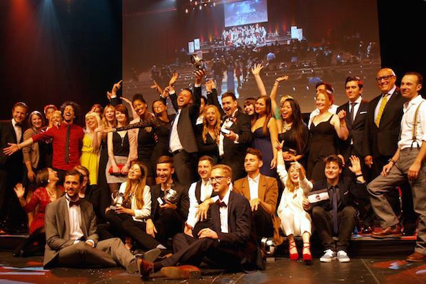 """Filmpreisverleihung """"Goldener Monaco"""" in der Siegerlandhalle lobt die hochkarätige Jury die jungen Filmemacher der Uni Siegen Foto: Universität Siegen"""