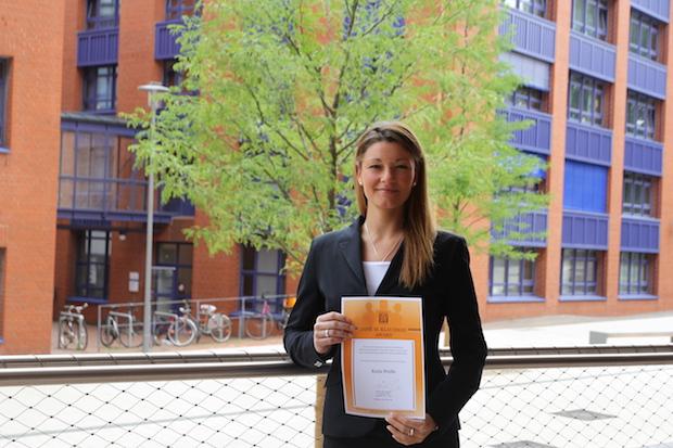 Photo of Studentin der Hochschule Bremerhaven erhält Jane M. Klausman Award 2015