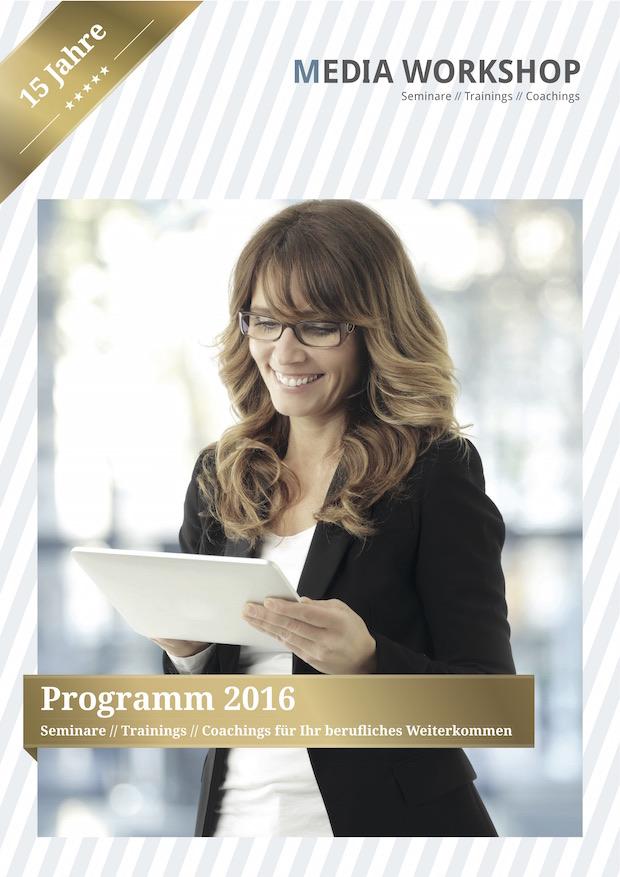 Photo of Media Workshop veröffentlicht neues Seminarprogramm 2016 und feiert 15 Jahre Weiterbildung für Kommunikationsfachleute und PR-Profis aller Branchen
