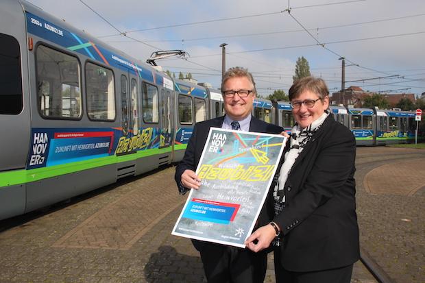 Photo of Ausbildungsplatzsuche: üstra-Stadtbahn wirbt für www.azubi21.de