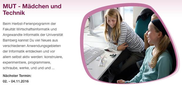 Photo of Technik-Schnuppertage für Mädchen Anmeldung zum Herbstferienprogramm ab sofort möglich