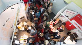 Über 100 Unternehmen stellen sich auf dem Magdeburger Uni-Campus Studierenden und Absolventen vor