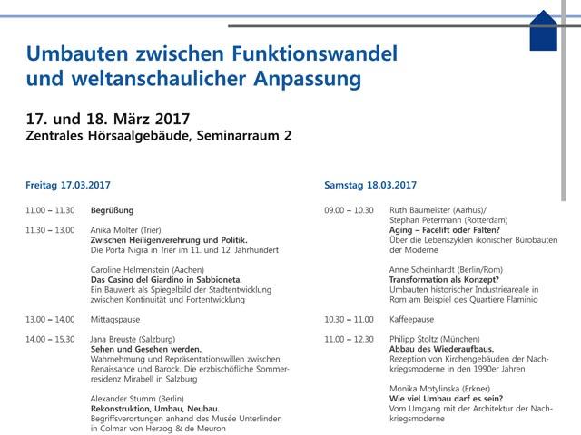 Photo of Workshop »Umbauten zwischen Funktionswandel und weltanschaulicher Anpassung«